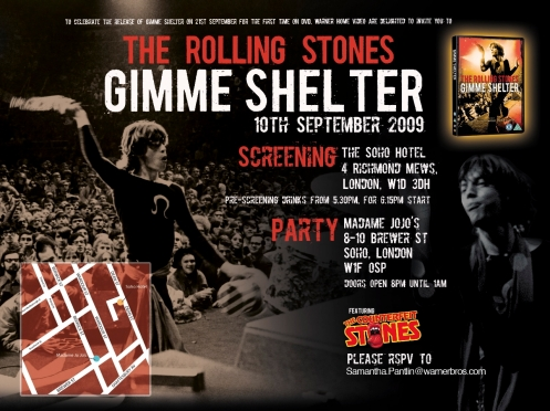 Gimme Shelter SP Invite