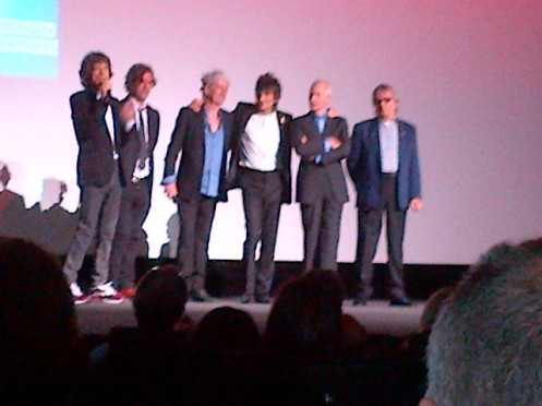 Stones + Brett Morgen (director) introduce Crossfire Hurricane